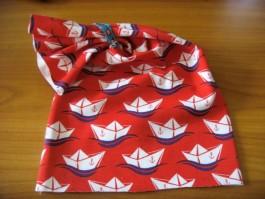Schalütze dehnbar mit rotem Schiffstoff