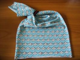 Schalütze dehnbar mit blauem Schiffestoff