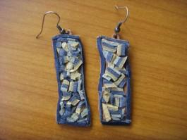 Flickenrechtecke mit Minimosaikleder in kühlen Blautönen