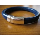 Armband 1 Band einfach umwickelt aus blauem Leder