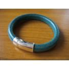 Armband 1 Band einfach umwickelt aus türkisem Leder