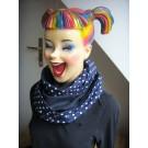 Loop-Schal handgefertigt aus blauen Designstoffen